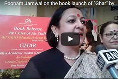 "Poonam Jamwal on the book launch of ""Ghar"" by Air Chief Marshal Raha"