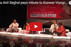 Seema Anil Seghal pays tribute to Kunwar Viyogi