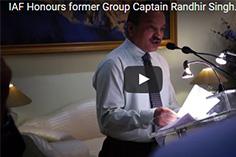 IAF Honours former Group Captain Randhir Singh alias Kunwar Viyogi