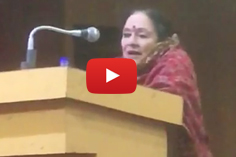 Jammu & Kashmir- A Cultural Prism event- Padmashree Padma Sachdev addressing the gathering