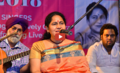 Lovely Chandra sings Rasam Riwaz at Kunwar Viyogi Utsav 2018